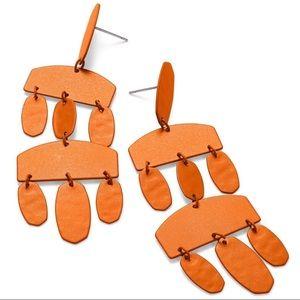 NWT Matte Orange Emmet Statement Earrings